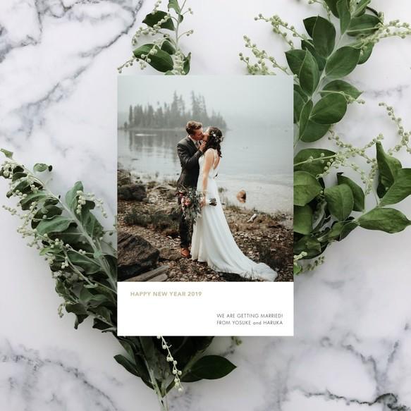 イノシシ 年賀状 結婚
