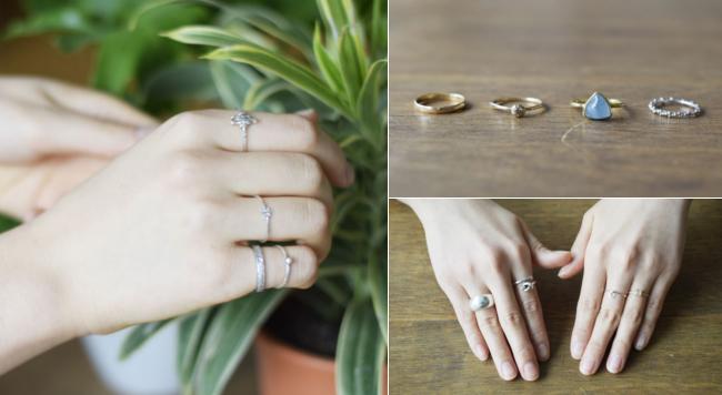 指輪の重ね付け、お洒落にするコツは?両手のリングコーデ実例5