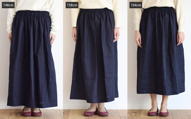 身長別にスカート丈を比較!オー...