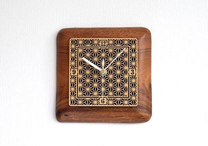 和柄インテリア時計「麻ノ葉模様」