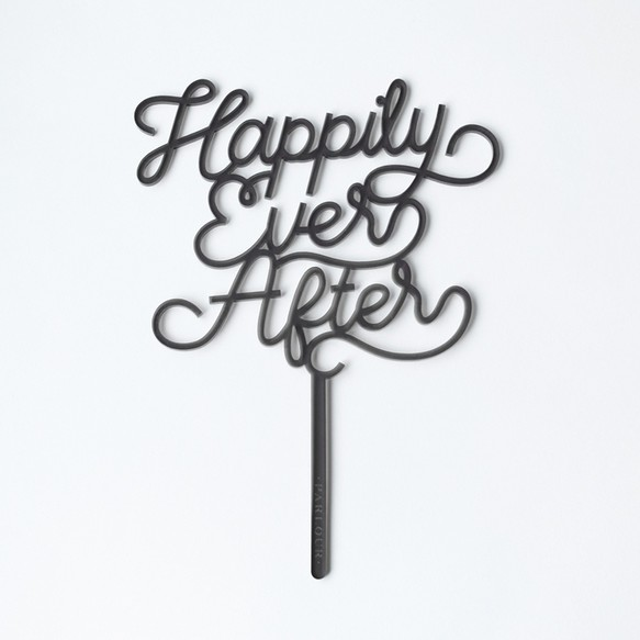 sale 30 off cake topper happily ever after grey その他