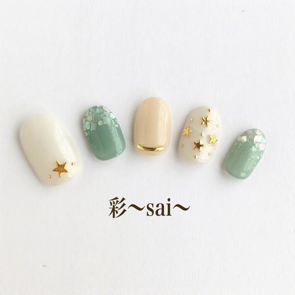 夏ネイル☆スモーキーカラー/シェルネイル/カジュアルネイル/スターネイル/秋ネイル