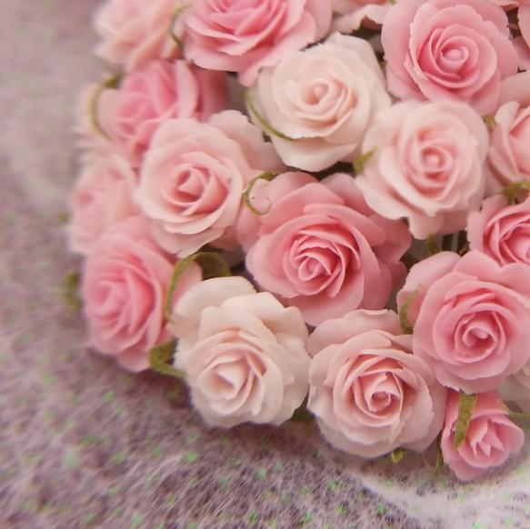 手のひらの薔薇の花束-ピンク- ...