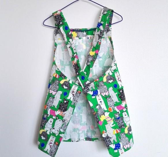 248b13a4588e7 ひとりで着られるエプロン 子供服 hanayura 通販|Creema(クリーマ ...