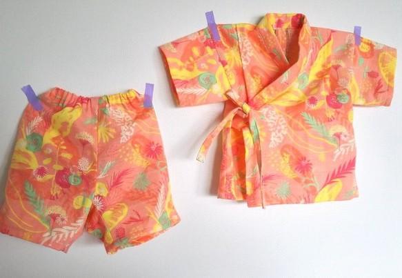 20cef54827879 やわらかバニランのお花の甚平 80㎝ ベビー服 hanayura 通販|Creema ...
