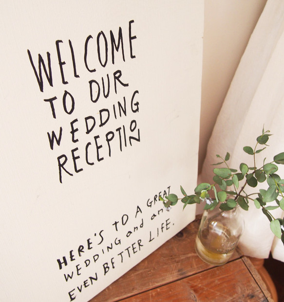 Drawing Board Welcome To Our Wedding Reception 大