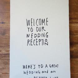 Drawing Board Welcome To Our Wedding Reception 大 ウェルカムボード フラベアンマリアージュ Am ハンドメイド通販 販売のcreema