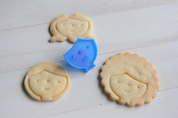 ヘアスタイル自由♪お顔クッキー型・クッキーカッター