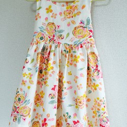 72e5509199cd3 トロピカルな花柄ワンピース ベビー 子供服 petit pied 通販|Creema ...