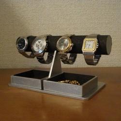promo code f6036 e3347 時計ケース!ブラックダブルでかいトレイ付き腕時計ラック