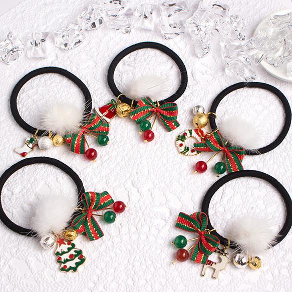 可愛い♥クリスマスヘアゴム/5種類/h,381
