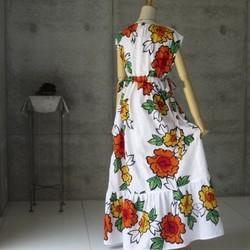 ad807bc0c0755 牡丹の花のロングワンピース 着物リメイク ワンピース・チュニック ...
