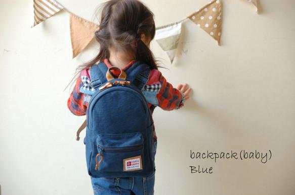 7354b3b0c129 在庫限り 残り1点】倉敷帆布*子供用リュック/Sサイズ <ブルー ...
