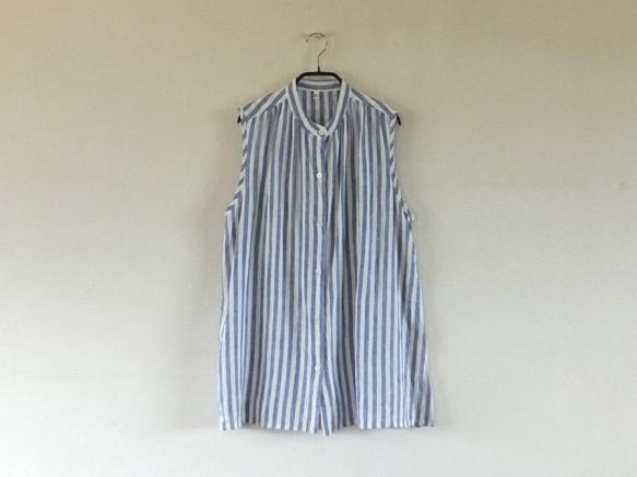 ノースリーブシャツ*ブルーストライプ