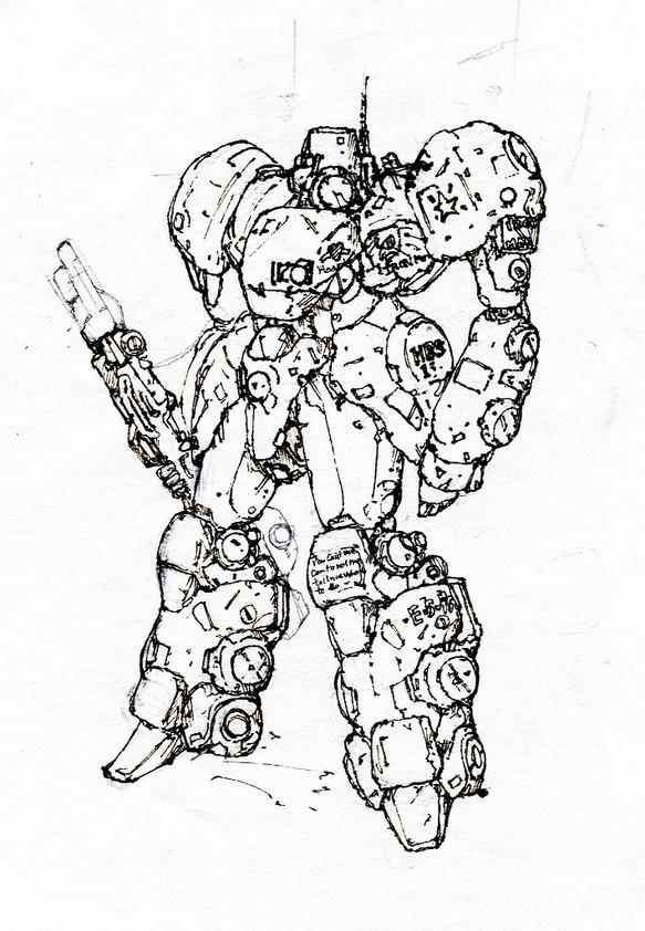 昔描いた ロボット イラスト 猫メタリオン 通販creemaクリーマ