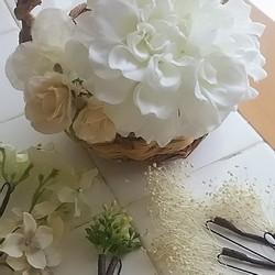 49990591aa3eb オールホワイトのアーティシャルフラワーヘッドドレス 結婚式 海外ウェディング 二次会 パーティ 披露宴 前撮りetc