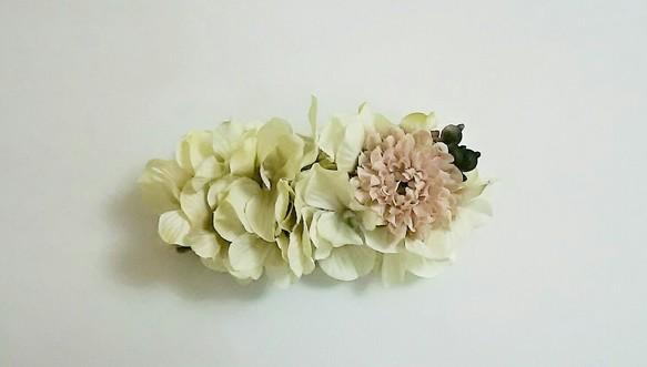 cce6330b8f747 秋色ピンクのアーティシャルフラワーバレッタ 二次会 結婚式 パーティ 発表会 浴衣 披露宴 普段使いetc