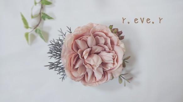 805ebfc02ec56 秋冬ピンクの2ウェイ コサージュ 結婚式 海外挙式 和装 二次会 披露宴 卒業式 入学式 発表会 浴衣 髪飾り 前撮り コサージュ r.eve.r
