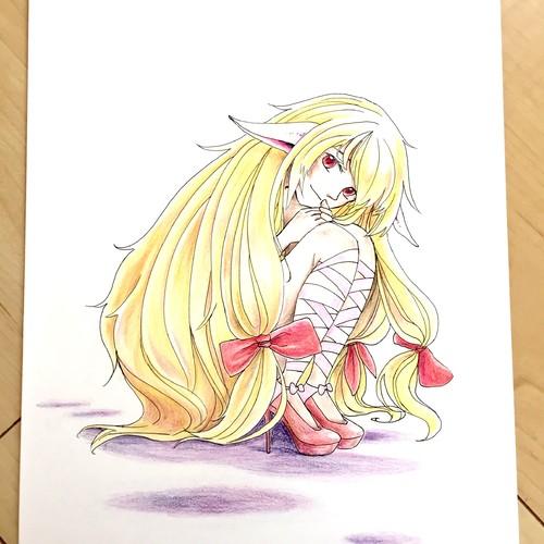 色鉛筆画 エルフの女の子 イラスト Taiyoukei 通販 Creema クリーマ ハンドメイド 手作り クラフト作品の販売サイト