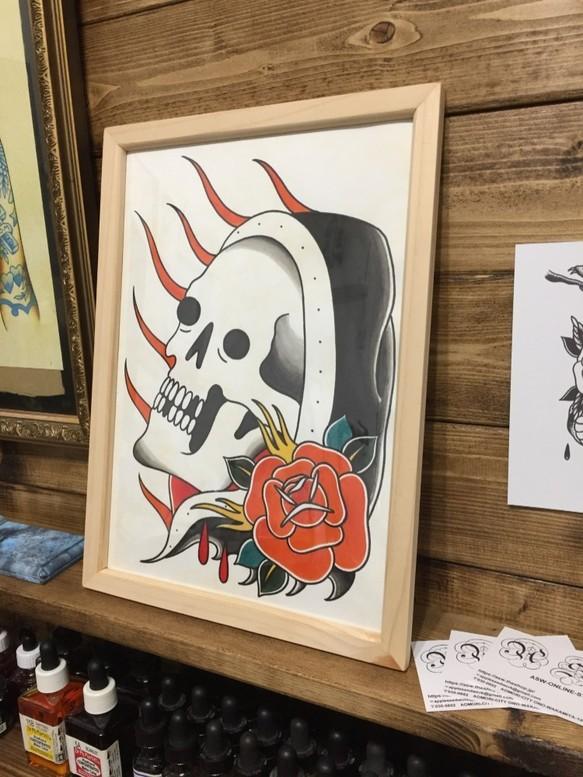 一点物手描き アメリカンレトロ インテリア Tattoo Flash イラスト Asw