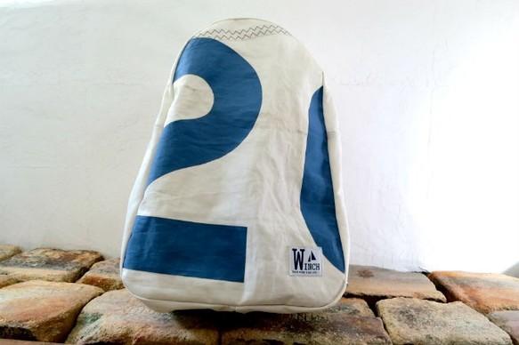 c719d380ece0 セイルナンバーリュック【W-101】 セイルバッグ USEDセイル ヨット リュック・バックパック hand made bag WINCH