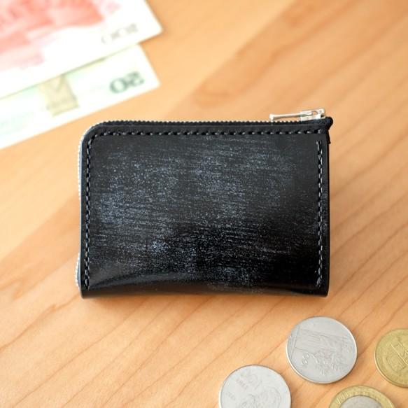 the best attitude b48a2 be333 【受注製作】革の小財布 BRIDLE / BLACK 小さい財布・コンパクト・ブラック・ブライドルレザー