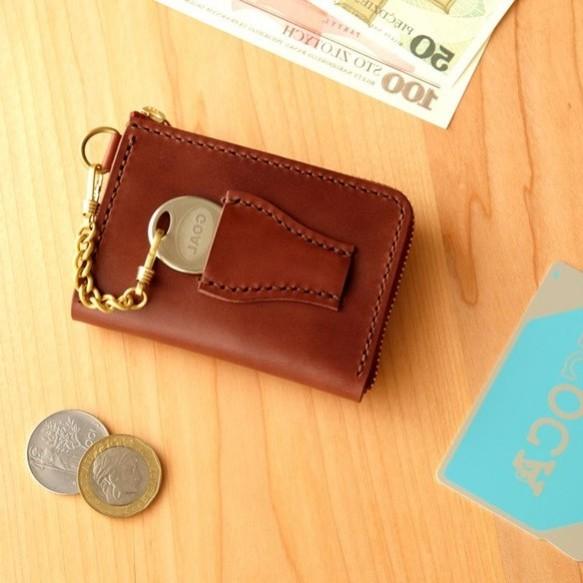 quality design a01f5 54b87 【左利き】革の小財布 with-Key CHOCO小さい財布・コンパクト・キーケース