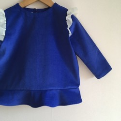 558aed04a70da ロイヤルブルー ペプラムトップス * サイズ90 子供服 Bambine 通販|Creema(クリーマ) ハンドメイド・手作り・クラフト作品の販売サイト