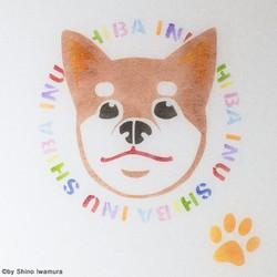 和紙ランプ「柴犬」手描きLEDあんどん|照明(ライト)・ランプ|shinostore|ハンドメイド通販・販売のCreema