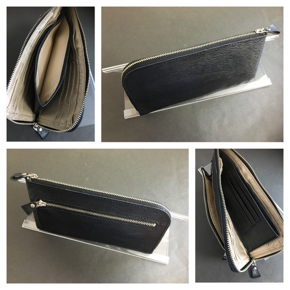 size 40 be90c b00e2 新品本革メンズ 長財布⭐︎エピ皮ブラック