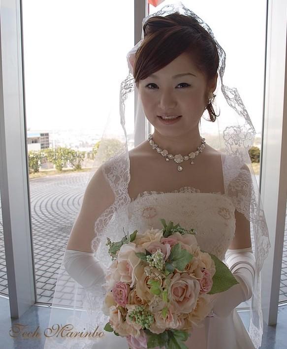 bc607bd27ef48 マリアベール ミドル丈 花の妖精  ヘッドドレス(ウェディング) てく ...