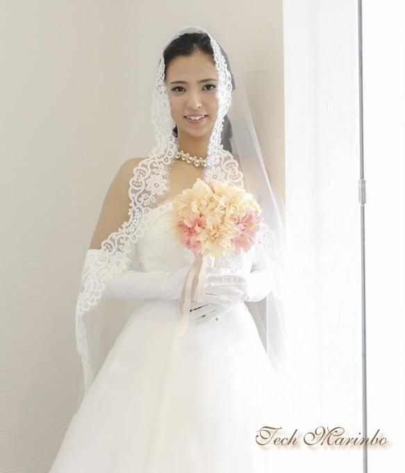 bba4b6b7240c0 マリアベール ミドル丈 カトリーナ  ヘッドドレス(ウェディング ...