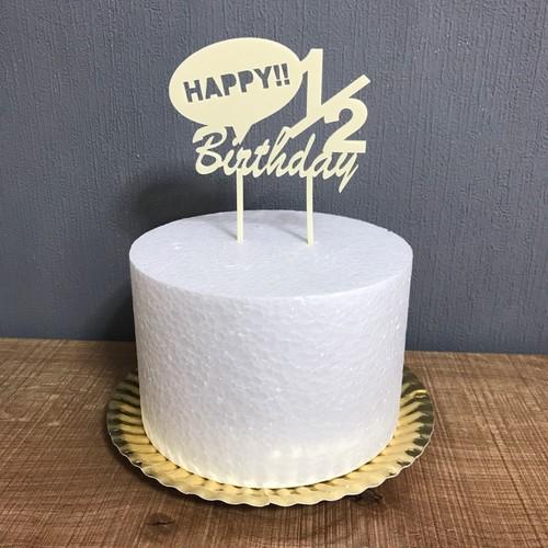 送料無料 1 2 Happybirthday 6ヶ月誕生日 ハーフバースデーケーキトッパー 雑貨 その他 Kit1000intheroom 通販 Creema クリーマ ハンドメイド 手作り クラフト作品の販売サイト