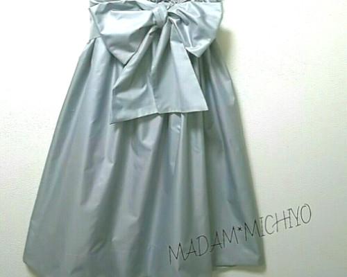 2f2485fb8a53ad 【送料無料】リボン付きスカート 結婚式にもステキ‼ リボン取外し着回し出来ます。