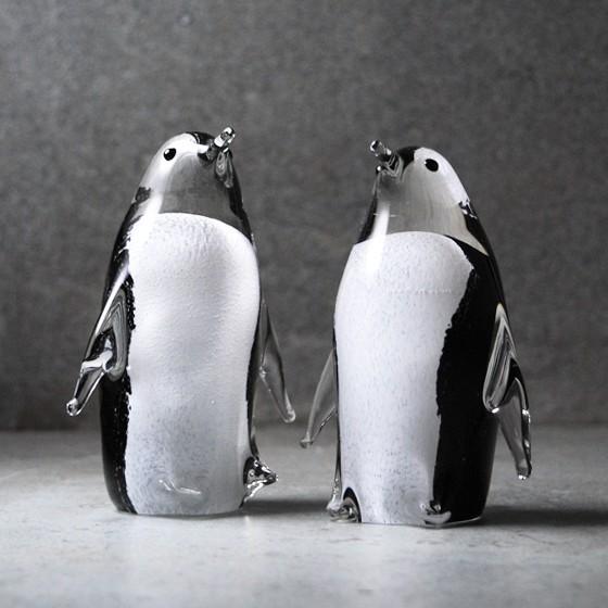 (2)10センチメートル] [南極ペンギンペンギンペンギンのカップルが結婚式のギフト結婚式は、小さな海の彫刻を愛していないました