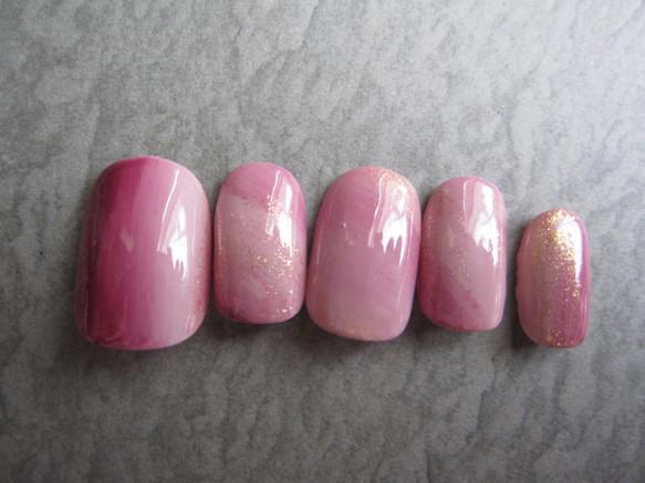 再販☆ ボルドーとピンクのグラデーションカラー
