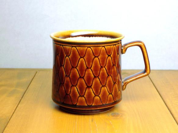 飴釉 網目マグカップ