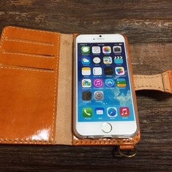 957eff4694 iPhone6/6sケース 牛革 つやありキャメル べっこうカラー iPhoneケース・カバー ニシビ 通販|Creema(クリーマ) ハンドメイド・ 手作り・クラフト作品の販売サイト