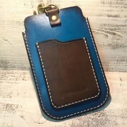 372043d436 スマートフォンポーチ ビンテージブルー iPhoneケース・カバー ニシビ 通販 Creema(クリーマ) ハンドメイド・手作り・クラフト作品 の販売サイト