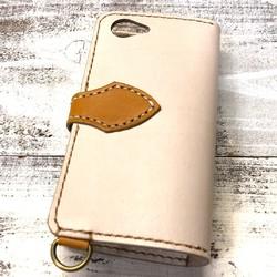 00054aa28a ナチュラル×キャメルコンビカラーレザーケース iPhoneXperiagalaxyなど各スマホ対応できます。 iPhoneケース・カバー ニシビ 通販| Creema(クリーマ) ハンドメイド・ ...