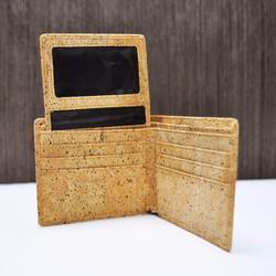 4af1240d585d [2018]バレンタインギフト:naturaismの自然2つのロードされたコルクのショートクリップ財布財布短いクリップ(B)