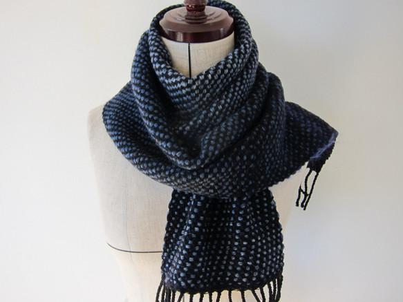 手織り リプシ織 マフラー Handwoven AMAS1514