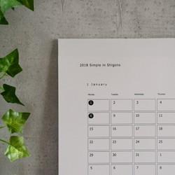 2018 simple in shigons a3 横型 calendar カレンダー shigons 通販