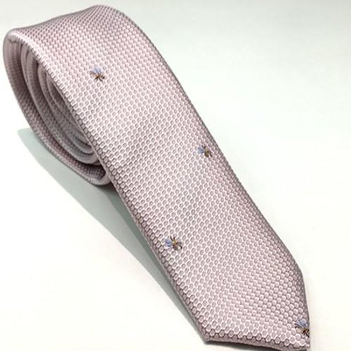 新着 受注製作ネクタイ ゜・。 。・゜お洒落ネクタイ*小さなミツバチシルク100% ゜・。 。・゜