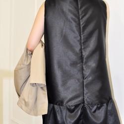93b6fdfe78319 3次元カットドレスシンプルな結婚式のパーティーの衣装の衣装のフラット135 X台湾のデザイナー黒のノースリーブのドレスの気質の感  ワンピース・チュニック Flat135 ...