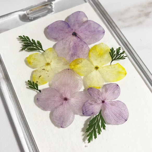 押花卡套 證件套 附送匙扣皮手帶 可放悠遊卡 一卡通 八達通 Pressed Flower Card Holder