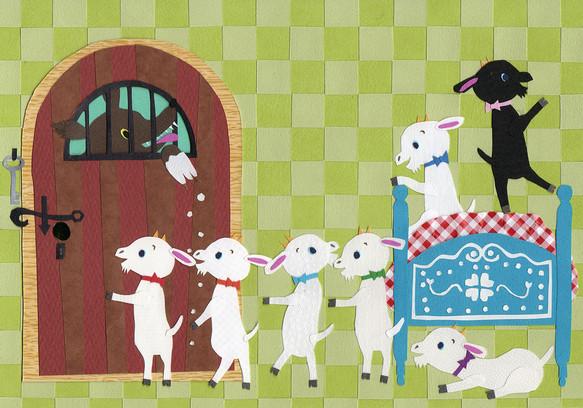 グリム童話ポストカード5枚組 切り絵 タナベユミコ 通販creema