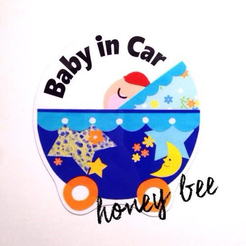 【ベビーカー stars】baby in car シール