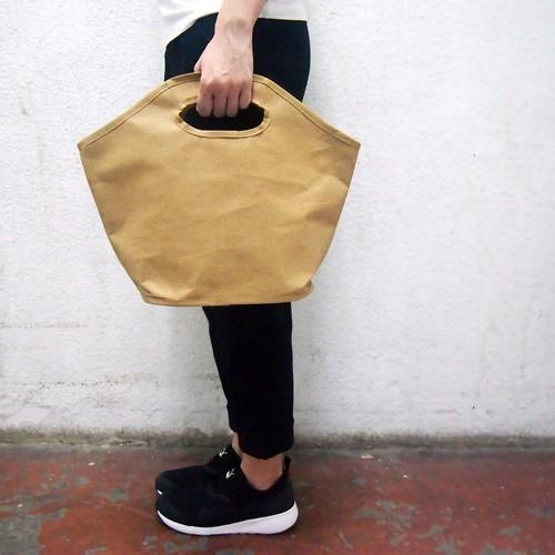 アーム/コンピュータバッグで洗浄したクラフト紙袋木製アーム/紙袋/ブリーフケース/クラッチ/ハンドバッグ