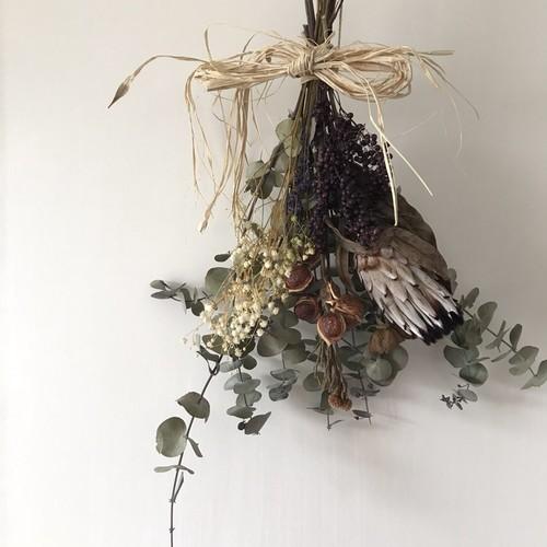 Dry flower swag ドライフラワースワッグ autumn2 フラワー・リース ...